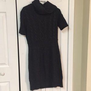 Loft grey turtleneck dress